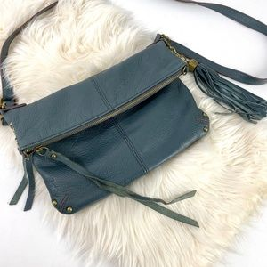 Lucky Brand leather crossbody bag purse fold over